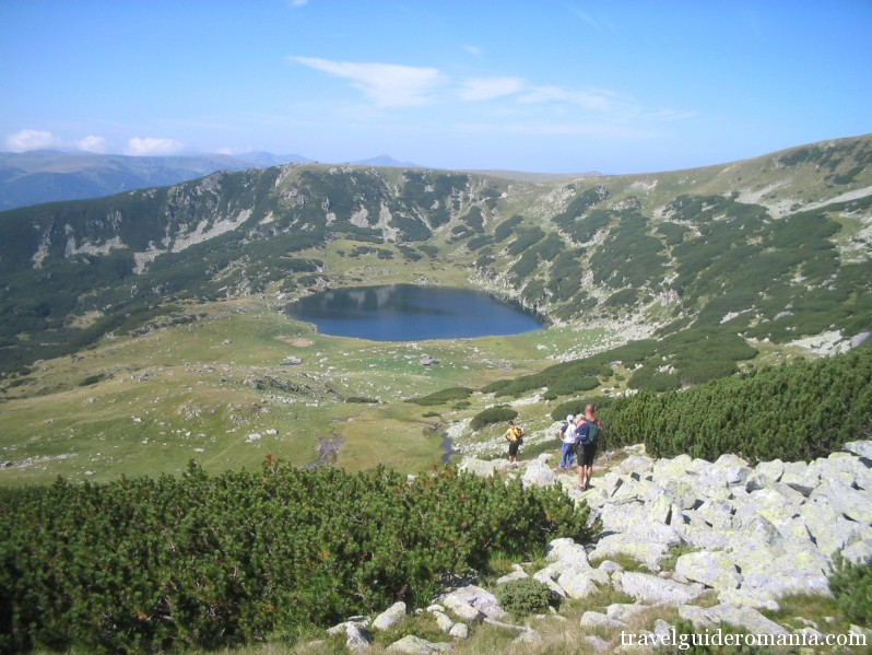 Zanoaga lake in Retezat mountains