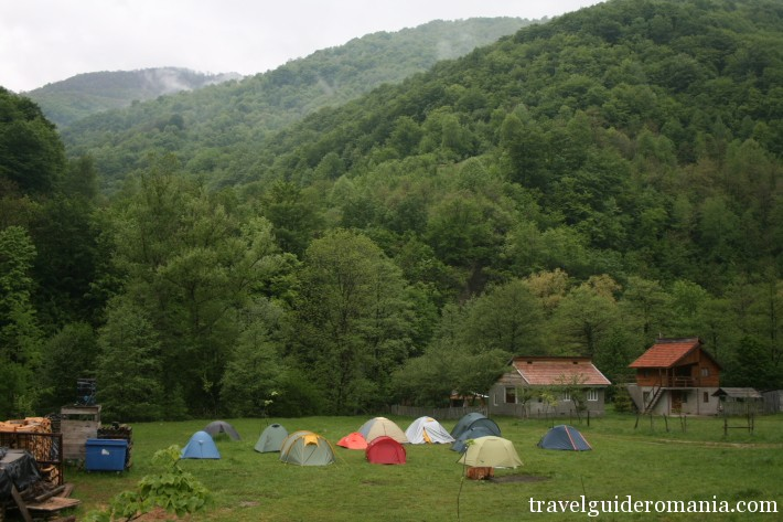 camping site in the National Domogled Park, Cerna Valley