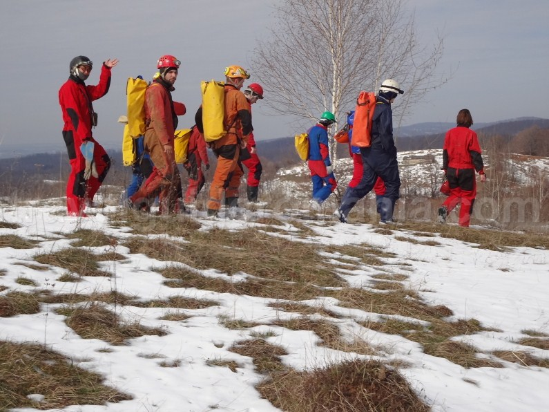 cavers in Romania - Apuseni mountains