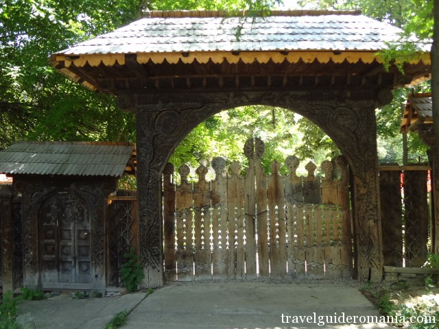 romanian traditional wooden gate from Maramures area