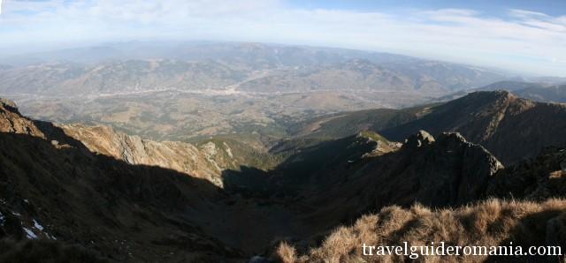 View from Pietrosul peak - Maramuresului Depression