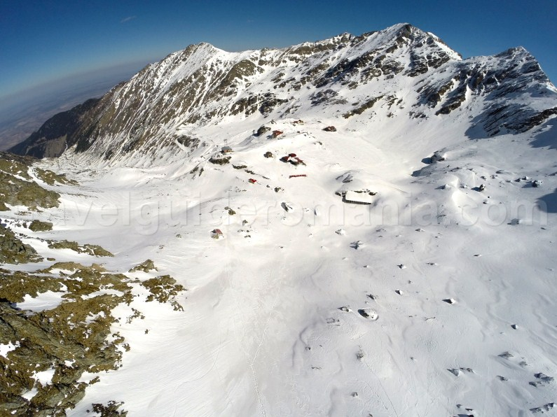 Balea glacier cirque in the central side of Fagaras Mountains