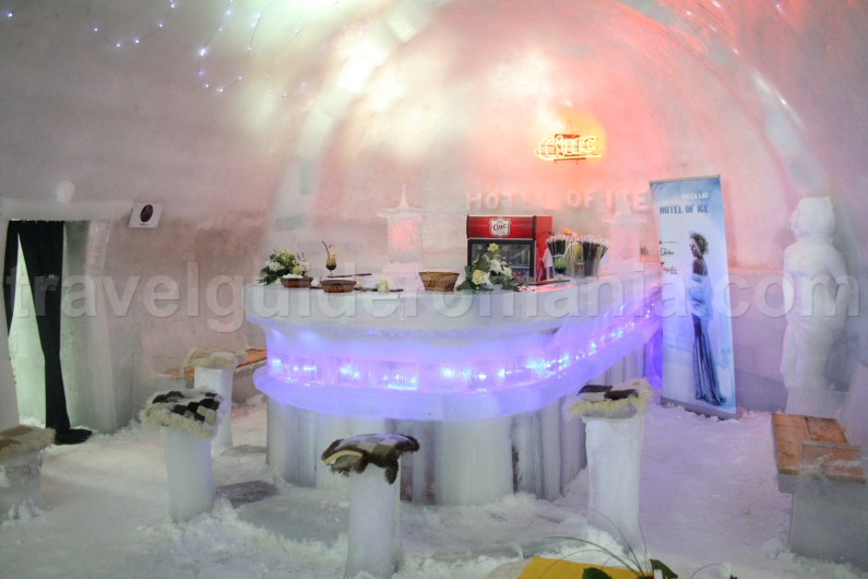 Bar at Balea Lac Ice Hotel - Fagaras Mountains