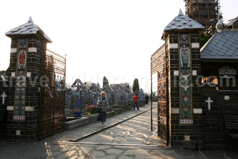 Entry at The Merry Cemetery of Sapanta