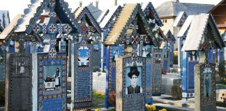 merry cemetery in maramures Romania