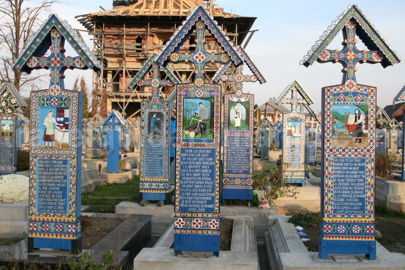 The Merry Cemetery of Sapanta village in Maramures