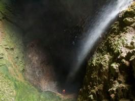 35m underground waterfall