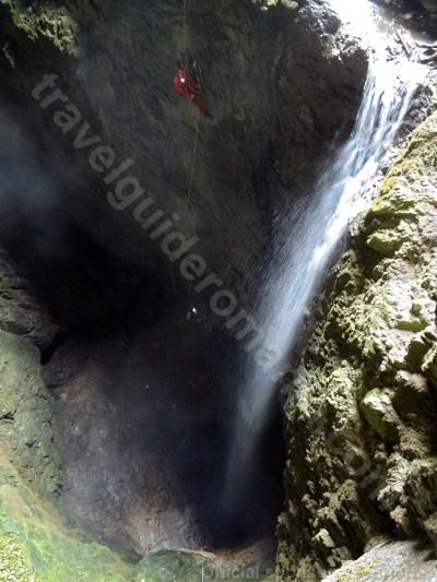 Campeneasca Cave - 35m underground waterfall