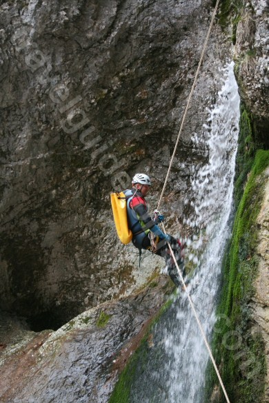Descending a waterfall - Romania outdoor