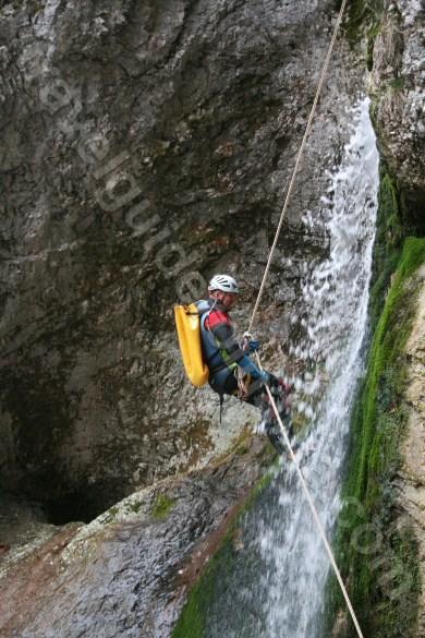 Descending a waterfall - Romania outdoor