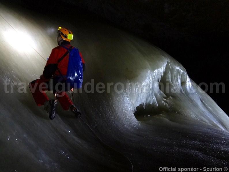 Bortig underground glacier - Romania's Caves