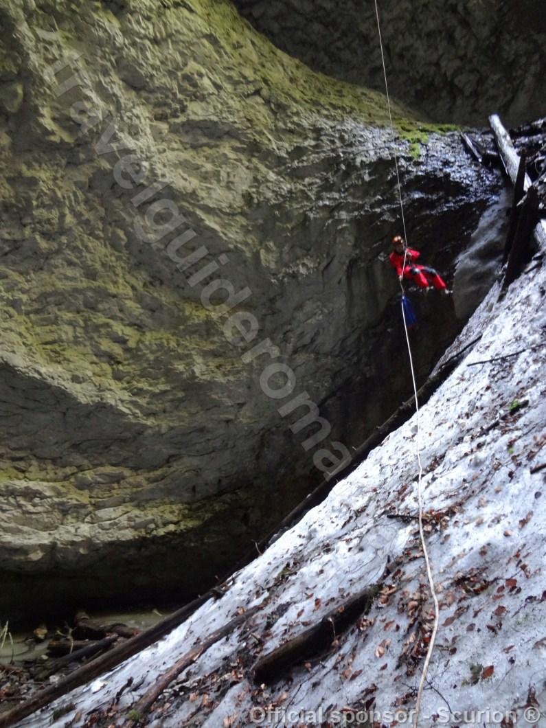Descending in Bortig Pit Cave -Apuseni Mountains
