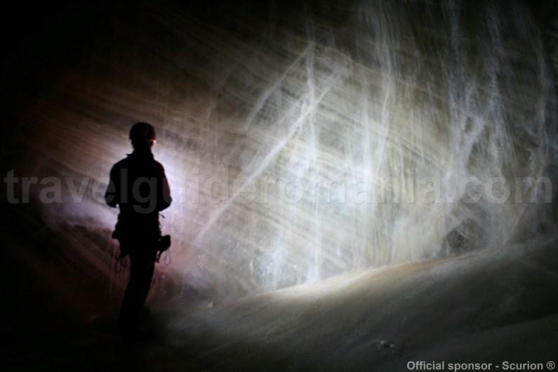 The Glacier in Bortig Pit Cave - Apuseni mountains -