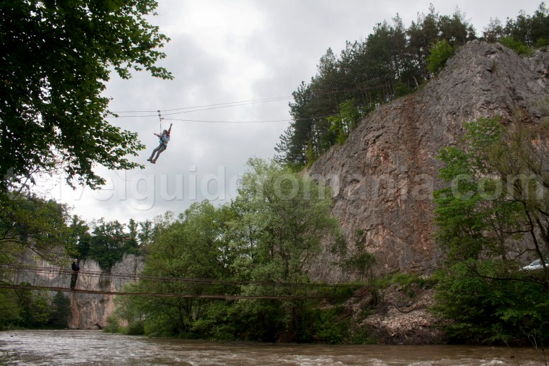 Zipline at Suncuius - Apuseni mountains