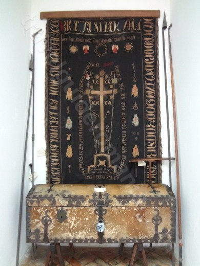 Clerical art items at Monastery Neamt Museum