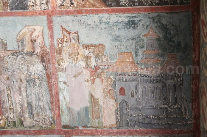 Paintings from the fifteenth century of the Neamt church