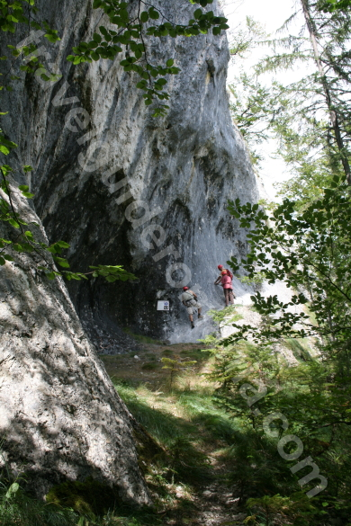 Access to via ferrata route - Vartop area