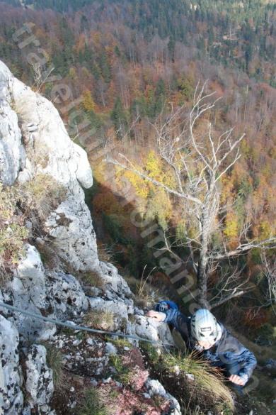 Progression in via ferrata route - Arieseni - Vartop