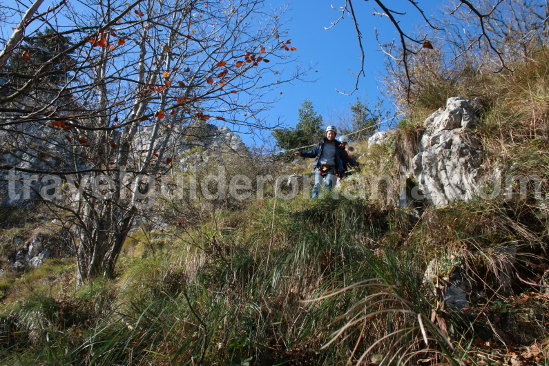 Retreat from Via ferrata track - Vartop area