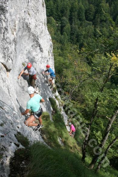 The treading method of via ferratas - Romania
