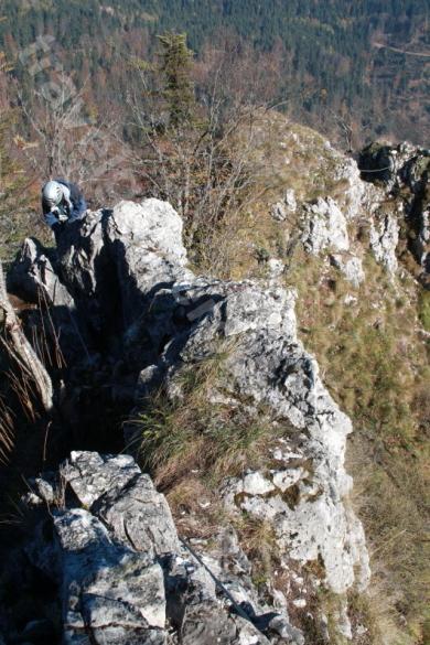 Via ferrata track in Apuseni Mountains
