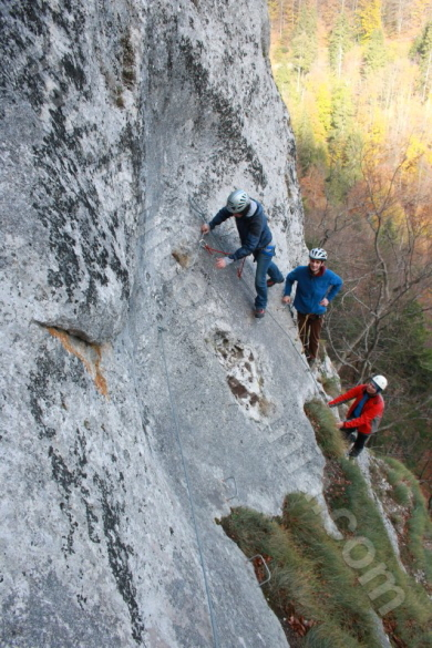 via ferrata route in Apuseni Mountains - Romania