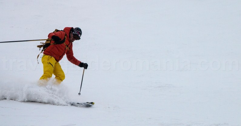 Skiing at Straja ski resort - Romania