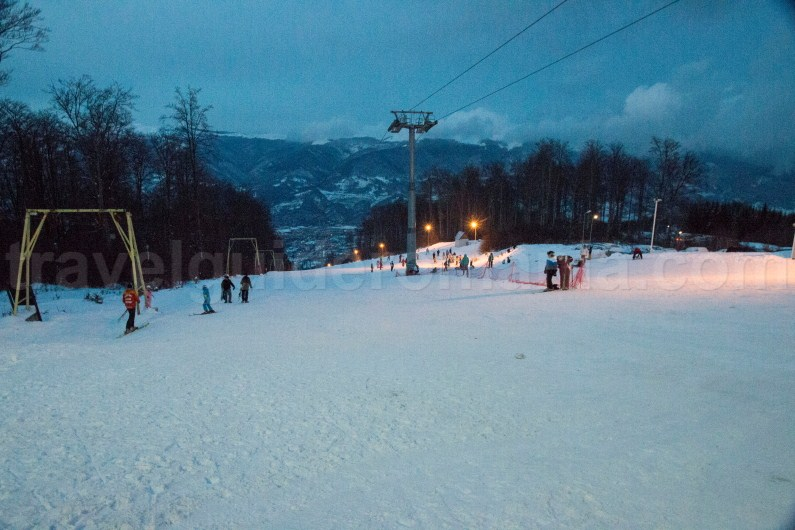 Straja ski resort - night instalation