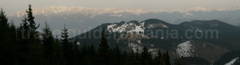 Iezer - Papusa Mountains - seen from Piatra Craiului Mountains