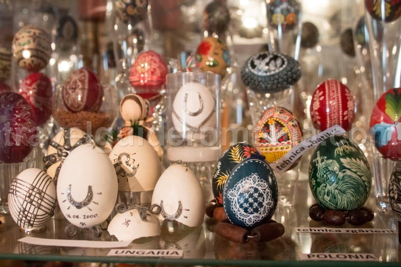 Egg collection at Egg Museum - Bucovina