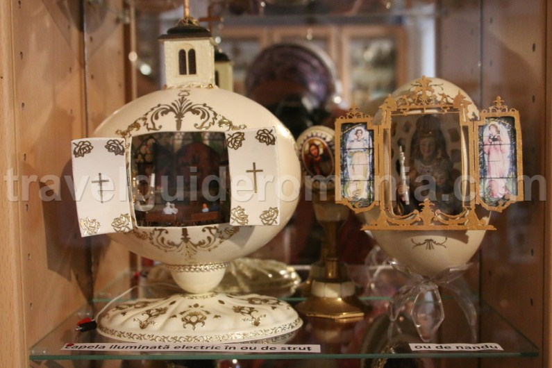 exhibits from abroad at Egg Museum in Vama Bucovina
