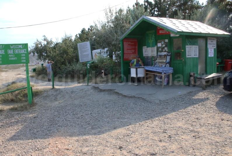 Entrance at Big Mud Volcanoes Reservation