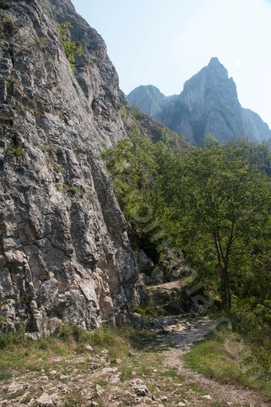 Acces to Via ferrata route in Turzii Gorge
