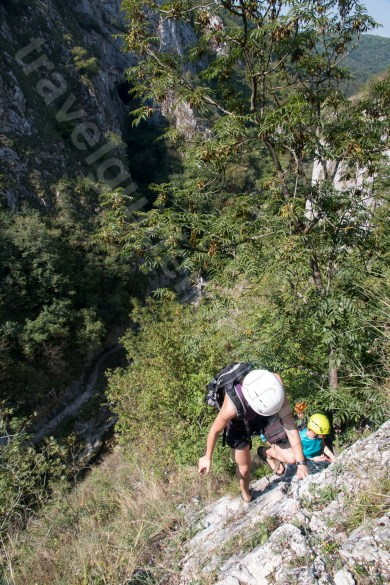 Adventure activities in Romania - Via ferrata route in Turzii Gorge