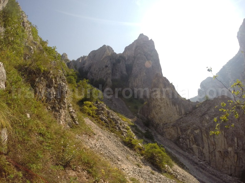 Going to via ferrata route in Turzii gorge - Romania
