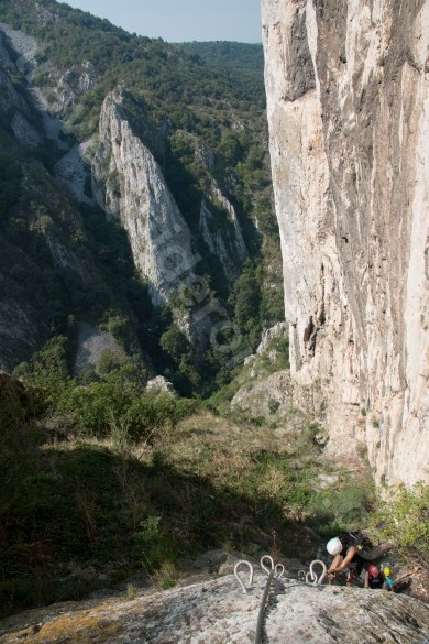 Places to see in Romania - Via ferrata in Turzii Gorge