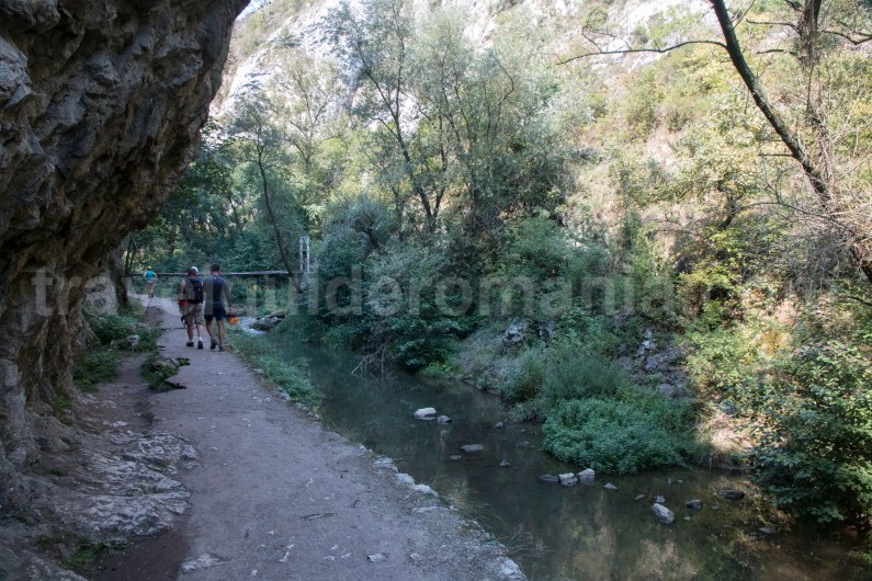 Tourist path in Turzii Gorge - Romania