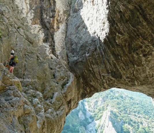 Via ferrata in Turda Gorge