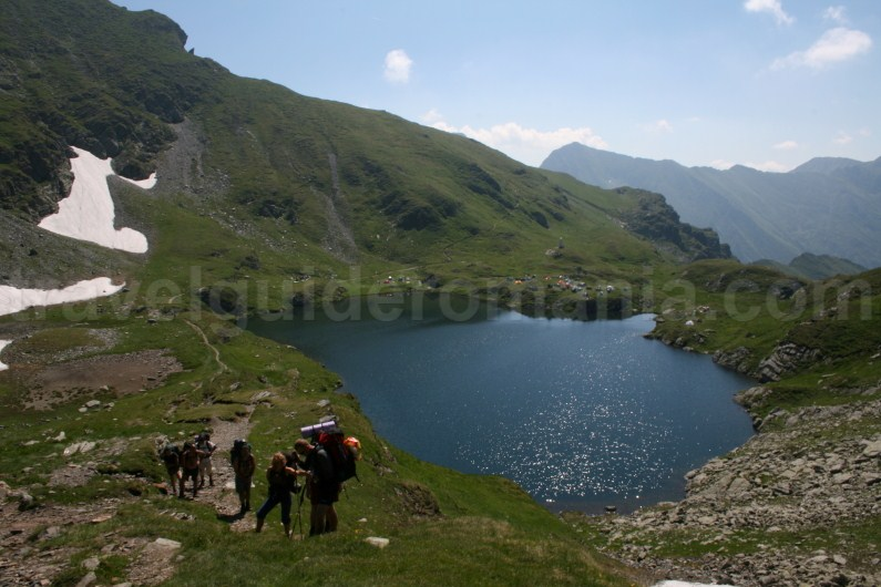 Camping sites in Fagaras Mountains - Capra lake