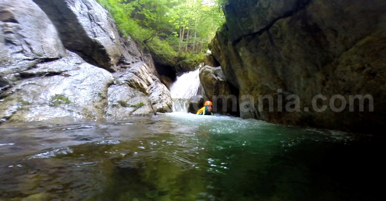 Canyons and waterfalls in Romania - Marii Valley