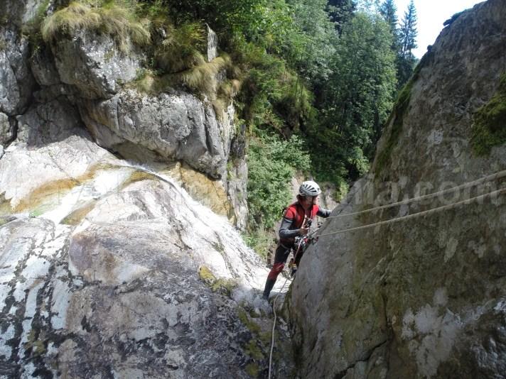 Fixing the rope in Marii Valley - Retezat Mountains - Romania
