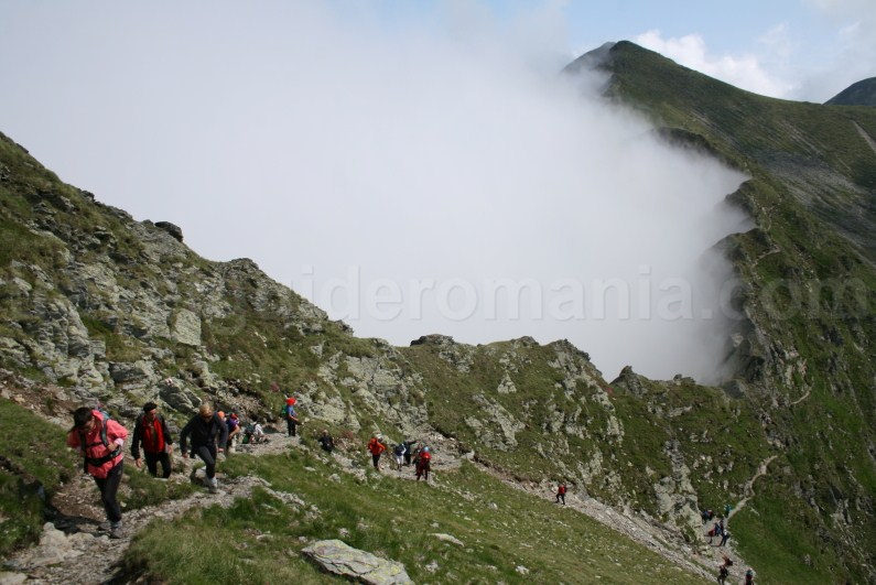 The ridge of Fagaras Mountains - stage between Lake Caltun and Lake Capra