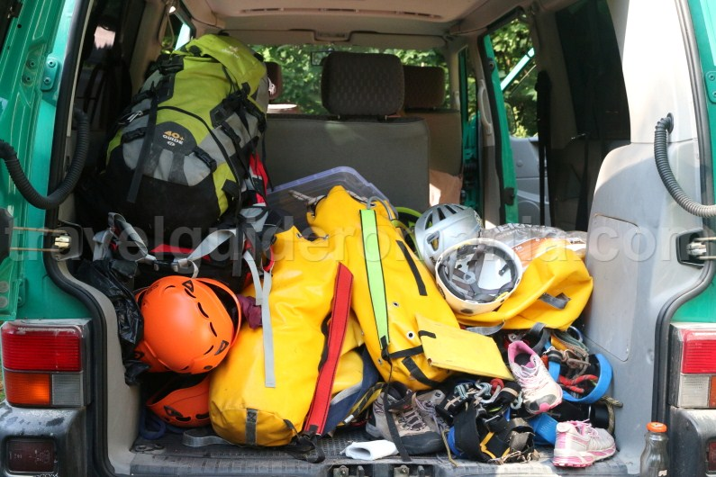 canyoning equipment - travel to Romania