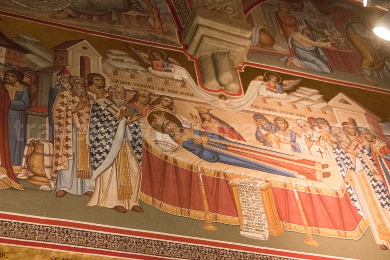 Interior paintings in Putna church - Moldavia