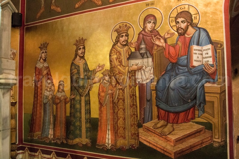 Painting in Putna chuch - travel to Bukovina