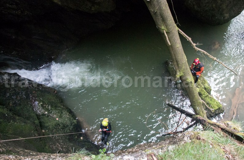 Rappelling in Galbenei Gorges - travel to Romania