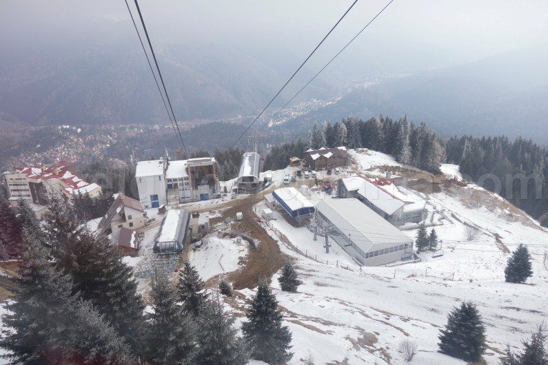 Cable cars Sinaia - travel to Prahovei Valley - Romania
