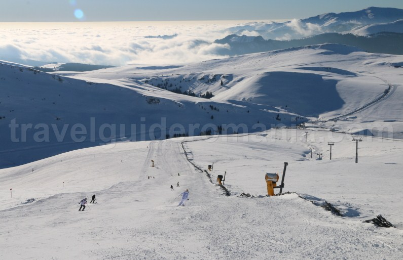 Famous ski area in Romania - Sinaia ski resort