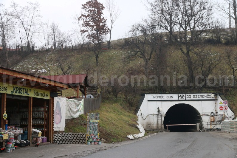 Praid salt mine entrance - Praid town - Romania