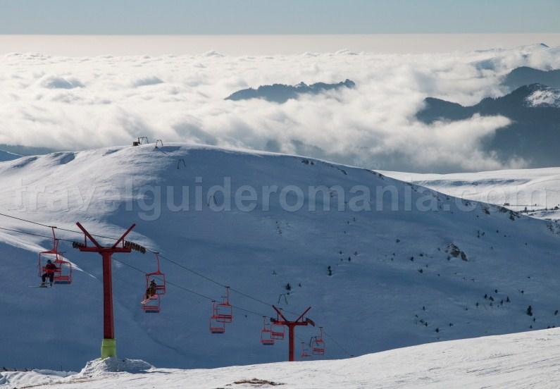 Ski slopes in Prahova Valley - Sinaia ski resort